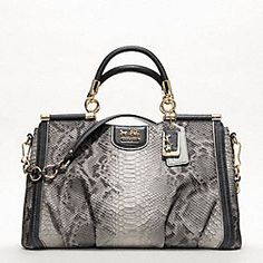 Coach Madison Embossed Python Caroline