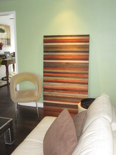 painted wood strips