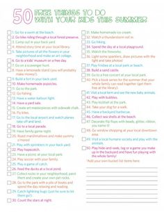 125 Summer Activities for Kids