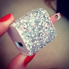 Give your phone #charger some #glitter with this #DIY!