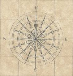 Compass rose tattoo design? I love the antique style.