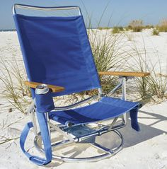 Swivel Beach Chair.  You would never have to get up!