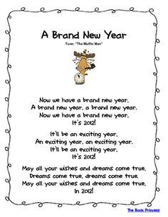 Here is one New Year's poem freebie that's part of my January Poems and Songs Packet. In the packet, there are a total of 25 poems/songs/fingerplay... books, idea, winter, school, januari poemsong, songs, poetri, princesses, new years