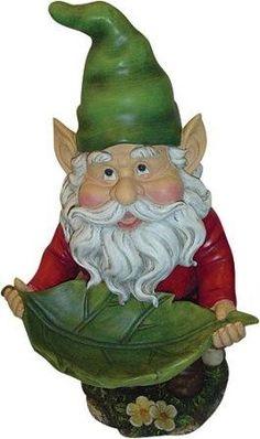 Bird Bath Leaf Gnome
