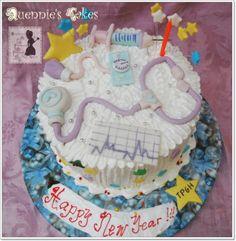 New Years Nurse Cake
