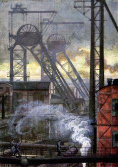 Westphalen Coal Mine, Heinrich Kley, Jugend magazine, 1922.