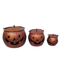 Copper Pumpkin Cauldron Set - AWWW SO SWEET!