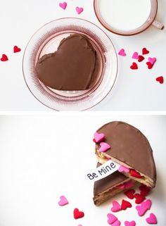 Valentine Surprise Cookies | Tasty Kitchen: A Happy Recipe Community!...Super cute idea for valentines day!