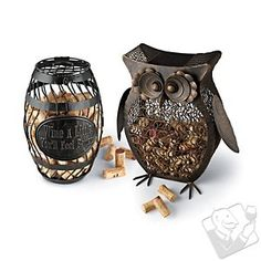 Owl and Wine Barrel Cork Catcher Set at Wine Enthusiast - $39.99