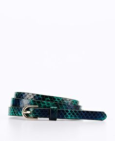 Exotic Leather Skinny Belt