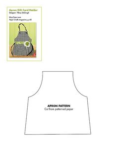 free templat, free pattern, aprons, gift cards, card patterns, apron patterns, free printabl, paper crafts, apron card