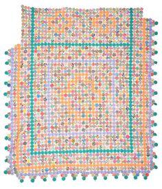 Yo-Yo quilt, 1930s, made by Catherine Jacobs Wisener, Charleston, SC. Charleston Museum