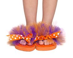 Clemson TuTu Flip Flops  #clemson