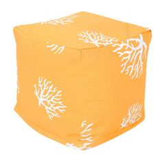 Weather-resistant fabric on this happy ottoman makes it easy to use indoors or out. | $53.10