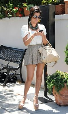 short, skirt, fashion, summer looks, kourtney kardashian, weight loss, summer outfits, style icons, closet