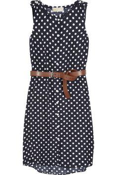 Polka-dot silk dress