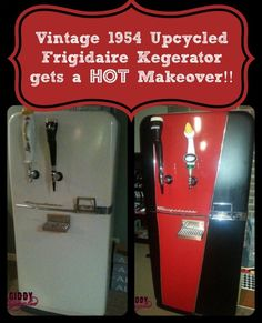 Vintage 1954 Frigidaire Kegerator Makeover - GiddyUpcycled.com