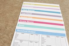 "Household Budget Binder Kit with 2014 Monthly Calendar {INSTANT DOWNLOAD} - 8.5"" x 11"" Letter Size // ""Fun"" Design $12.00"
