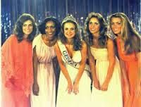 """Vanna White (far right) participated in the 1978 Miss Georgia pageant. Though she didn't walk away with a win, White became an iconic television personality thanks to her role as the hostess of """"Wheel of Fortune."""" White & Pat Sajak have hosted the game show since 1982, and though the former beauty queen has had several cameos in movies and television shows, her claim to fame continues to be her nightly """"Wheel of Fortune"""" appearance. White even got her own star on the Hollywood Walk of Fame."""