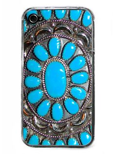 #boho #iphone #case #turquoise #silver