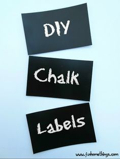 This is so easy! DIY Chalk Labels  #crafts #diy #cheap