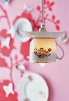 Decor: Teacup lights