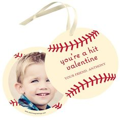 Valentine Gift Tags -- Vintage Baseball. Fun Valentine's Day ideas for kids