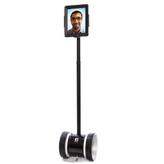 "The Double takes an iPad, puts it on a long stick, attaches it all to a set of self-balacing wheels and creates a telepresence robot that lets you ""be there"" without being there. You control it from a distance with yet another iPad, I think so"