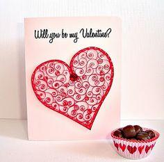 Quilled Valentine's card