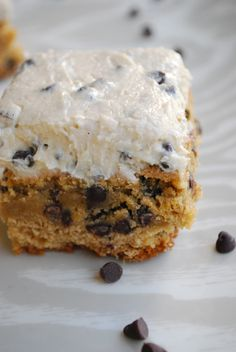 Chocolate Chip Cookie Bars with Cookie Dough Frosting Recipe