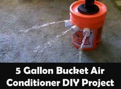 5 Gallon Bucket Air Conditioner DIY Project