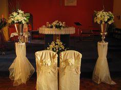 Wedding Altar Decoration for Church | silk flower church decoration All About Weddings