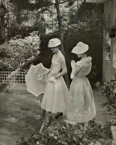 1956 dresses Jacques Heim. Catherine Sauve