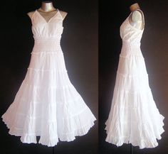 Cute gypsy white sundress. I'm looking for a cute sundress this summer.