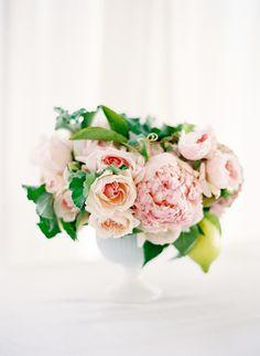 Romantic blush centerpiece  #wedding #flowers #centerpiece #blush