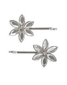 G - Gem Snowflake Hair Pin Two-Pack