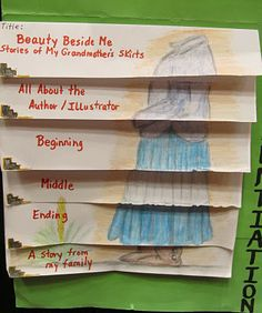 LOVE this foldable book report.  I love how the illustration goes all the way down the page.