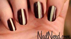 stripe manicur, nail arts, nerd nail, nail nerd