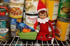 Dozens of Elf on The Shelf Ideas – Elf In the Pantry #elfontheshelf #elfontheshelfideas