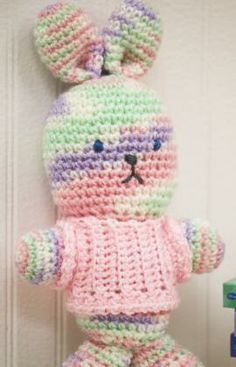 My First Bunny Free Crochet Pattern from Red Heart Yarns