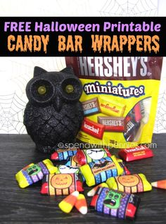 FREE Halloween Printable Candy Bar Wrappers!