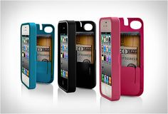 The protective casing is also designed to carry cash, ID's or a couple of credit cards. It even has a built-in mirror.