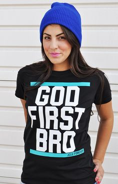 $17.99-GOD1ST-SHIRT by JCLU Forever Christian t-shirts