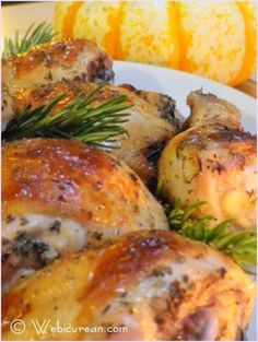 Chicken Roasted with White Wine
