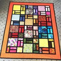 Quilting: Stained glass quilt from Craftsy