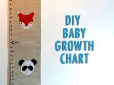 DIY Mother's Day Special* Make a baby growth chart as a gift for new moms.