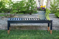 Wood Dipped Bench with @opiproducts  Nein! Nein! Nein! Ok Fine! by Ace Blogger, @chrislovesjulia