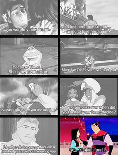 Nailed it.  Thanks Mulan, for being the only Disney movie with an accurate depiction of how men behave.