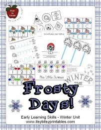 Toddler Activity - Winter Unit