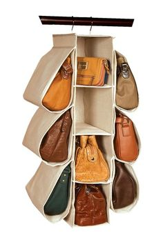Natural Nature of Storage 10 Compartment Purse Organizer - yep... I need this.